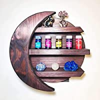 Moon Shelf, Crystals shelf, crescent moon, essential oils storage, wall decor, nursery decor, Mauve