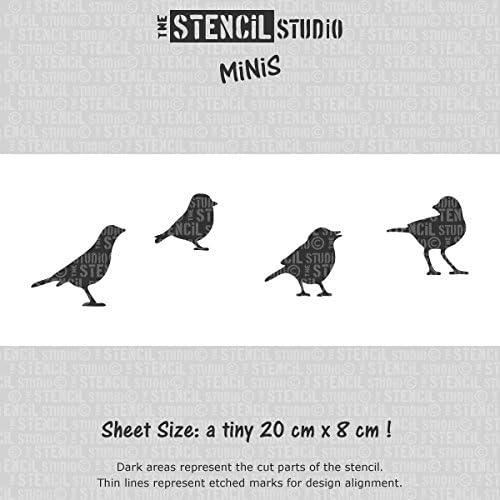 Reusable Stencil Stencil MiNiS Birds Stencil The Stencil Studio 10516