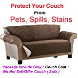 Glive's Reversible Couch Coat Fits Any Style Sofa Stylish Barrier Against Pet Hair and Messy Spills