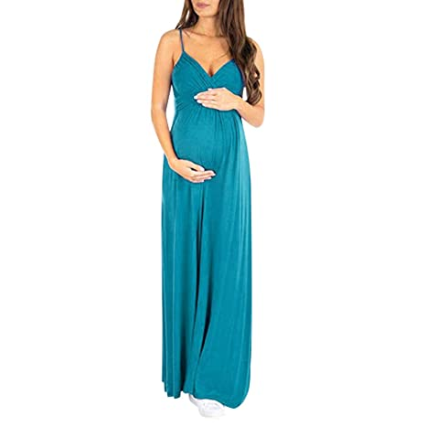 Umstandsmode Umstandskleid Schwangerschaftskleid Ärmellos Stillkleid Materity DE
