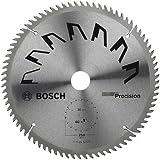 Bosch 2609256882 Précision Lame de scie circulaire 80 dents carbure Coupe nette Diamètre 250 mm alésage/alésage avec bague de réduction 30 Largeur de coupe 3,2 mm