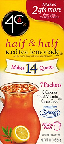 4C Totally Light Half & Half Iced Tea.Lemonade, 7-Count Packets (Pack of 4) ()