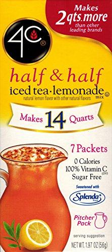 4C Totally Light Half & Half Iced Tea.Lemonade, 7-Count Packets (Pack of - Half Lemonade