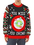 Product review for Tipsy Elves Men's Drinking Game Ugly Christmas Sweater - Funny Christmas Sweater