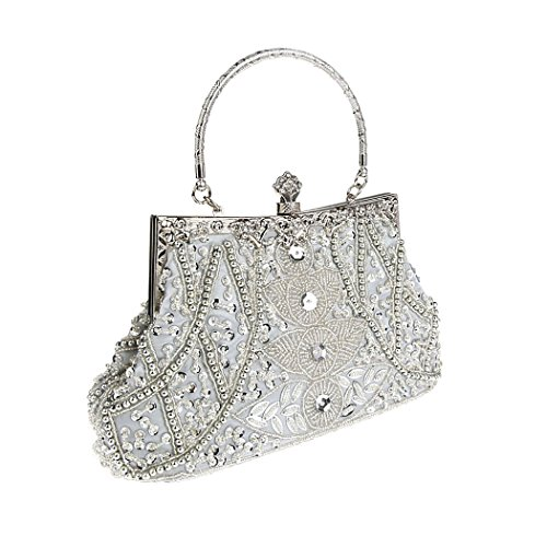 Clutch Silver VENI Various Prom Design Ideas Party Handbag Gift Evening Flower Price Bead Elegant MASEE Piece Bag Colors RqSY1