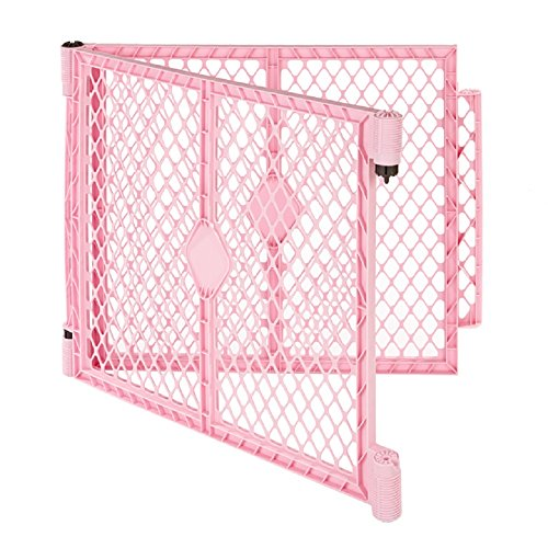 North States Superyard PlayPen Two Panel Extension Kit in Pink