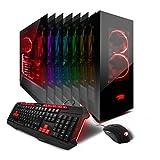iBUYPOWER AM5202EA Gaming Desktop PC AMD Ryzen 7 1700X 3.4 GHz, Nvidia GTX 1080 8GB, 16GB DDR4 RAM, 1TB HDD, 240GB SSD, Liquid Cool, VR Ready,  Wifi, Win 10 Home