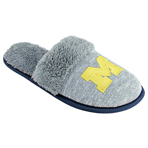 College Edition NCAA Michigan Wolverines Women's Scuffscuff Shoes, Gray, ()