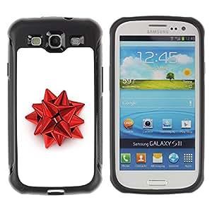 LASTONE PHONE CASE / Suave Silicona Caso Carcasa de Caucho Funda para Samsung Galaxy S3 I9300 / Red Christmas Decoration