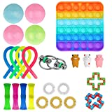 Fidget Toy Set 24 Packs, Sensory Fidget Toys Pack for Kids or Adults, Stress Relief and Anti-Anxiety Tools Toys Kill Time (Stlye G)