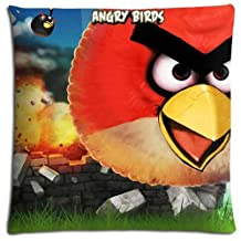 Zippered Angry Birds Decorating Polyester & Cotton Bedroom Pillow Case Collection 18x18 inch 45x45 cm