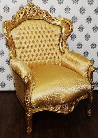 Casa Padrino Barock Sessel King Gold Muster / Gold - Möbel Antik ...