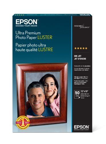 19 Printing (Epson Ultra Premium Photo Paper LUSTER (13x19 Inches, 50 Sheets))
