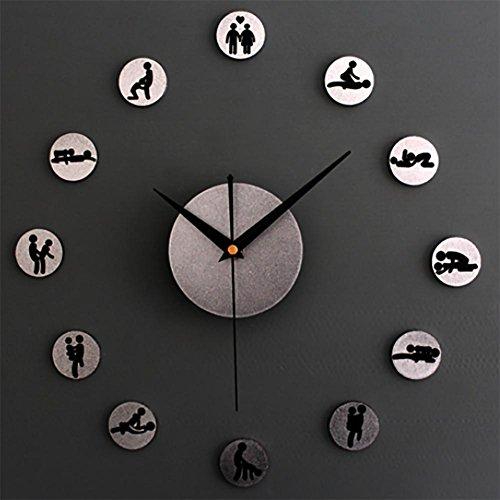 MCC Personality Creative Wall Clock DIY Metal Texture Sex Quiet Clock , a by guazhong