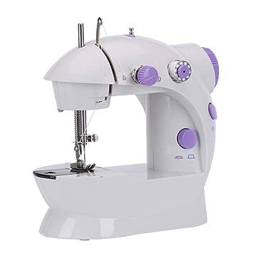 GSKTY Máquina de coser Portable escritorio hogar pequeña máquina de coser eléctrica