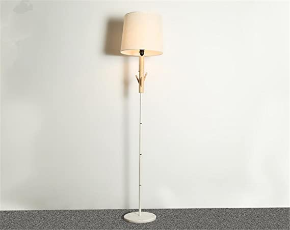 H m lampada da terra lampada a stelo piantana tessuto paralume in