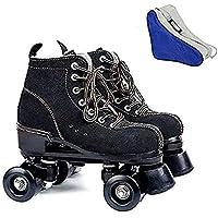 Golden Days Women Roller Skates Black Wine Red 4 Wheels High Toe Skate Shoes Four Wheel Skates