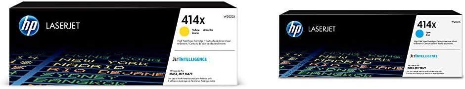 HP 414X | W2022X | Toner Cartridge | Yellow | High Yield & 414X | W2021X | Toner Cartridge | Cyan | High Yield