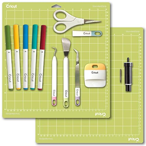 Cricut Tools Bundle – Cutting Mat, Deep Cut Blade w/Housing, Basic Tools & Pens by Cricut