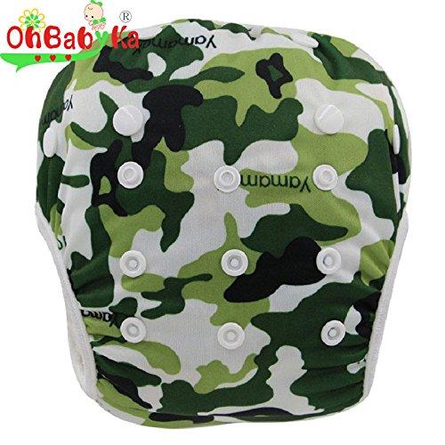 OHBABYKA Baby Reusable Washable Swim Diaper Pants Pool Cover, One Size by OHBABYKA Cavalli Kids OBYK56