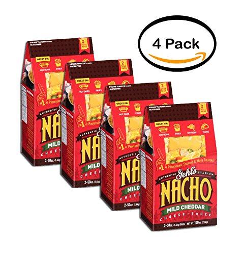 PACK OF 4 - Gehl's Authentic Stadium Nacho Mild Cheddar Cheese Sauce, 50 oz, 2 (Cheddar Nacho Cheese Sauce)