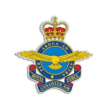 Royal Canadian Air Force Emblem Shaped Sticker (decal logo canada province military)