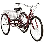 """Single Speed 26"""" Schwinn Meridian Adult Tricycle with Adjustable Seat and Handlebars,easy Low"""