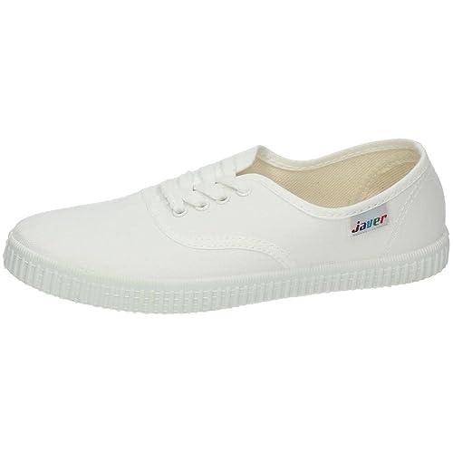 JAVER 60 Bambas Lona Ingles Mujer Zapatillas: Amazon.es: Zapatos y complementos