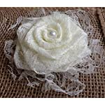 Set-of-Six-Elegant-All-Lace-Flowers-with-Lace-Ruffle-and-Burlap-Back-Ivory-Champagne-White-Black-Navy-Tulle-Wedding-Centerpiece-Aisle-Decoration-Wreath-Table