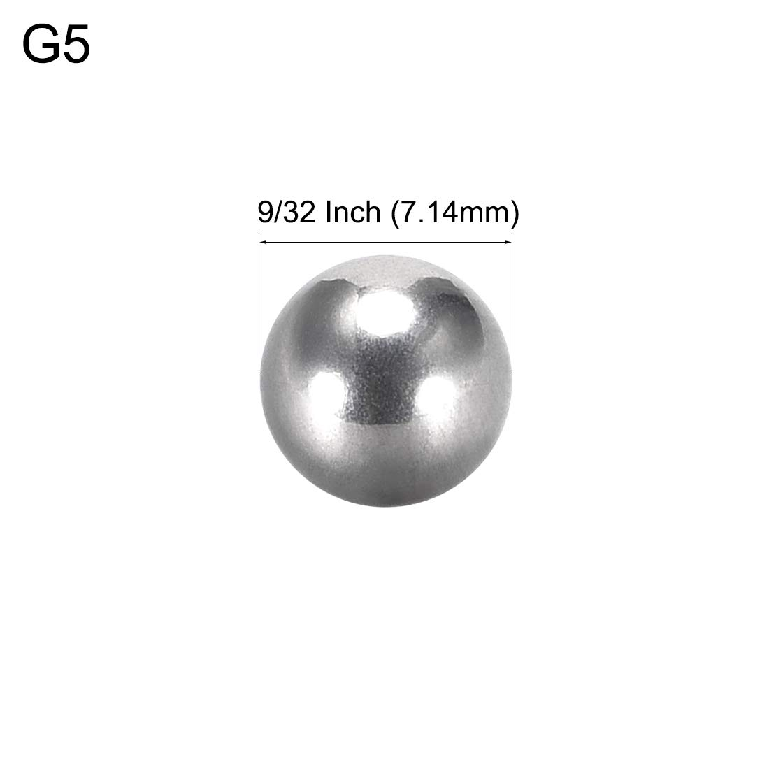 uxcell Precision 304 Stainless Steel Bearing Balls 9//32 Inch 7.14mm G5 10pcs