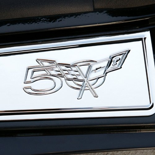 Corvette Door Sill Plates - Billet Chrome with 50th Anniversary Logo : C5 & (Billet Sill Plates)