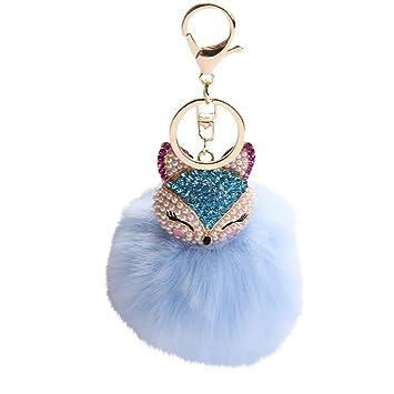 SMILEQ Fashion bola llavero 8 cm Incrustación Pearl ...