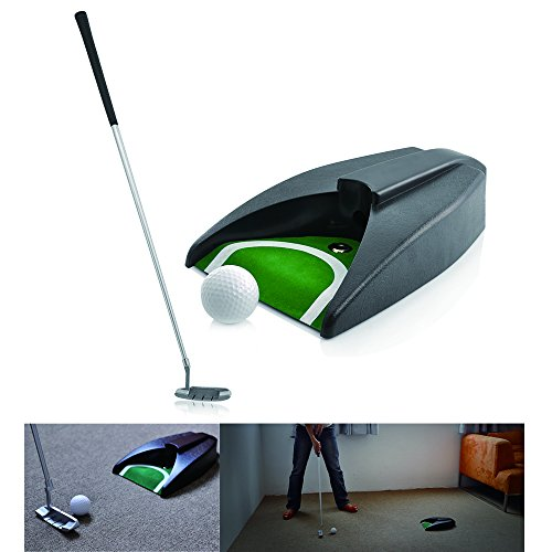 LEAGY-Portable-Golf-Putter-Travel-Practice-Putting-Set-with-Case-Indoor-Outdoor-Yard-Golfer-Kids-Toy-Indoor-Golf-Games-Set-Ball-Return-System-Zink-Alloy-Putter-Best-Gift-Executive-Office-Putter-SET
