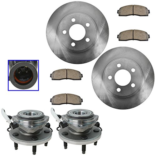 - Front Ceramic Disc Brake Pad Rotor & Hub Kit Set for Ford Mazda Truck Pickup 4 Wheel Drive Models