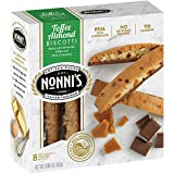 Nonni's Toffee Almond Biscotti Cookies 6.88 oz (Pack of 12)