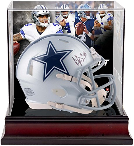 Dak Prescott Dallas Cowboys Autographed Riddell Speed Mini Helmet with Deluxe Mini Helmet Case - Fanatics Authentic Certified Autographed Cowboys Mini Helmet