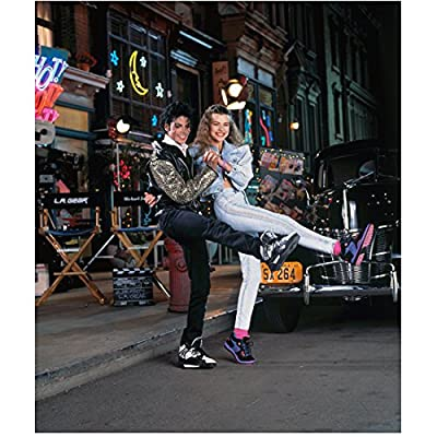 Michael Jackson King of Pop Dancing on Backlot with Girl 8 x 10 Inch Photo