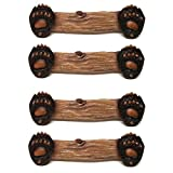 Bear Paw Drawer and Cabinet Pulls, Set of 4 (Handles)