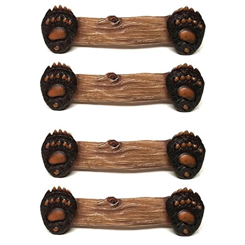 Paw Cabinet - Bear Paw Drawer and Cabinet Pulls, Set of 4 (Handles)