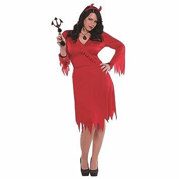 Mini Red Sequin Halloween Fancy Dress Devil Fork Handheld Prop