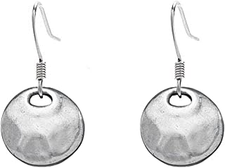 product image for DANFORTH - Serenity Earrings - 3/4 Inch - Surgical Steel Wires - Handcrafted - Pewter - Made in USA
