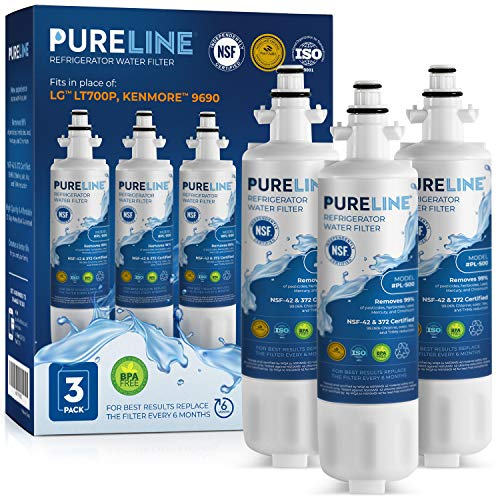 Kenmore 9690 & LG LT700P Certified Water Filter Replacement. Compatible Models: LG LT700P, Kenmore 9690, LG ADQ36006101, Kenmoreclear 46-9690.Other Compatible LG Models Listed Below.-PURELINE (3 Pack)