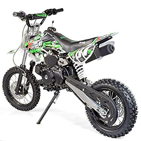 Moto Dirt Bike niños 110 cc 14/12 - recinto Auto 4T - verde, sin montaje, se envía en caja: Amazon.es: Coche y moto
