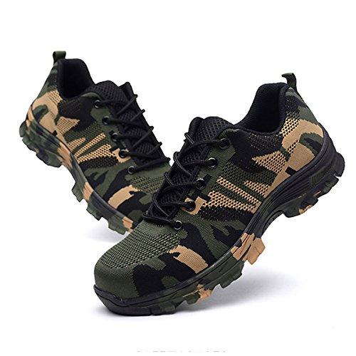 CHNHIRA Chaussures de Sécurité Homme Embout Acier Protection Confortable Léger Respirante Unisexes Chaussures de Travail 4