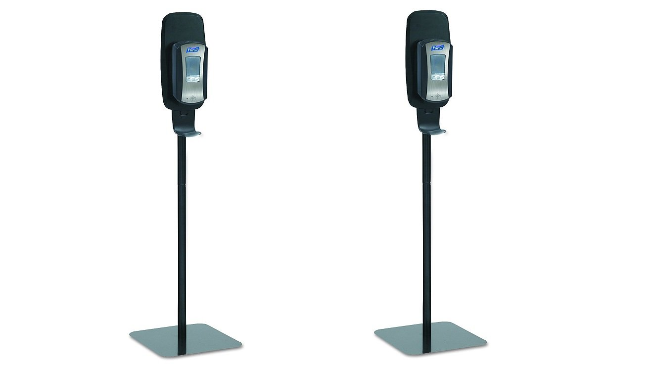 PURELL 2425-DS LTX or TFX Touch-Free Hand Sanitizer Dispenser Floor Stand, Black, 16 3/5w x 5 29/100d x 23 3/4h (Pack of 2)