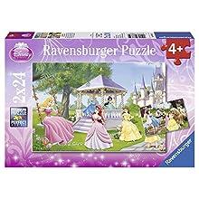 Ravensburger- Personajes fántasticos puzle Infantil, Color púrpura, Pack de 2 x 24 Piezas (08865)