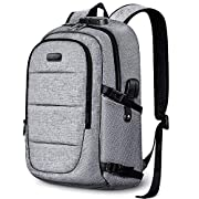 Anti-Theft Laptop Backpack,15.6-17.3 Inch Business Travel Backpack Bag with Lock with USB Charging & Headphone Port…