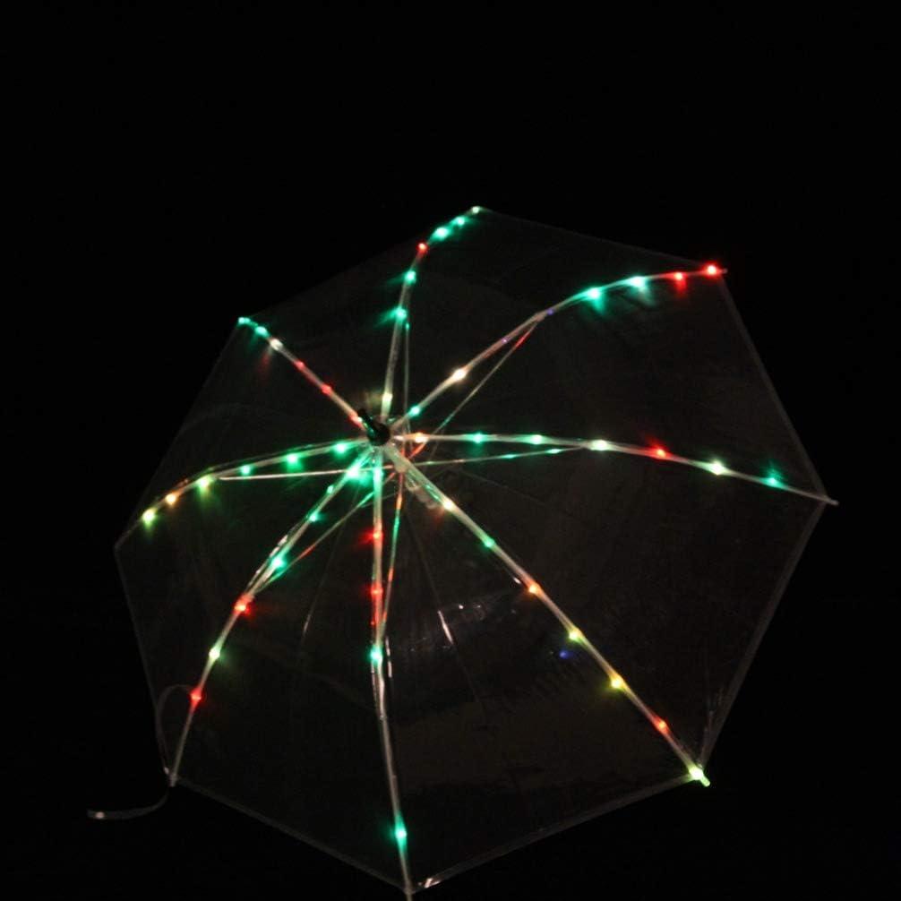 MoLiYanZi Atrezzo de Rendimiento de Danza del Vientre Paraguas LED Varilla Recta Multicolor Paraguas Emisor de luz Fiesta Baile Props, One Size: Amazon.es: Deportes y aire libre