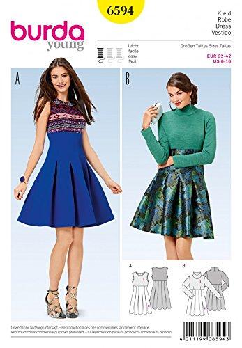 Amazon.com: Burda Ladies Easy Sewing Pattern 6594 High Waist Pleated ...