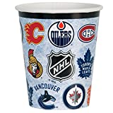 Unique 59386 9-Oz NHL Hockey Party Cups, 8-Count